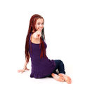 Beautiful teenage girl with african plaits Stock Photo