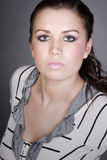 Beautiful Teenage Girl with Alluring Stock Photo