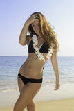 Beautiful teenager in bikini Royalty Free Stock Image