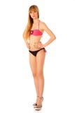Beautiful teenage girl in bikini swimwear Royalty Free Stock Photos