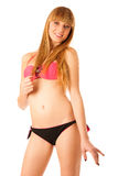 Beautiful teenage girl in bikini swimwear Royalty Free Stock Photography