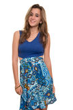 Beautiful teenage girl with a casual dress Royalty Free Stock Photography