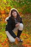 Beautiful teenage girl enjoys autumn colors Royalty Free Stock Photo