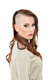Teenage  with interesting hairdo. Beautiful Teenage girl with interesting hairdo Stock Photography