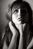 Beautiful Teenage Girl Looking Up Royalty Free Stock Images