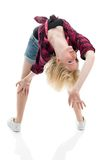 Beautiful teenage girl in odd fashion pose Stock Photography