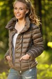Beautiful teenage girl outdoors Royalty Free Stock Images