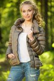 Beautiful teenage girl outdoors Stock Photo