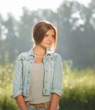 Beautiful teenage girl outdoors Stock Photography