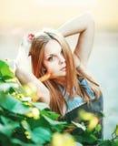 Beautiful Teenage  girl. Outside portrait Stock Image