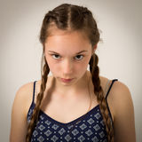 Beautiful Teenage Girl With Plaits and Onesie Stock Photography