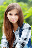 Beautiful teenage girl Stock Photos