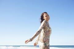 Beautiful Teenage Girl Posing On Beach Royalty Free Stock Image