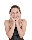 Beautiful teenage girl's face Royalty Free Stock Photography