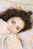 Beautiful teenage girl sleeping Stock Photo