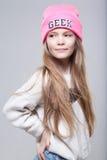 Beautiful teenage girl smiles Royalty Free Stock Photos