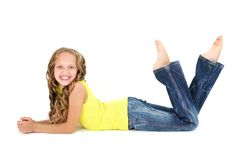 Beautiful teenage girl smiling Stock Photography