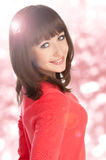Beautiful teenage girl smiling Royalty Free Stock Photos