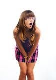 Beautiful teenage girl with surprised look on face Royalty Free Stock Image