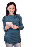 Beautiful teenage girl with tablet pc Stock Photography