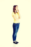 Beautiful teenage girl is thinking Royalty Free Stock Images