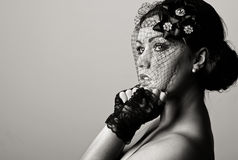 Beautiful Teenage Girl in Veil Royalty Free Stock Photo