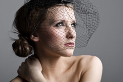 Beautiful Teenage Girl in Veil Stock Photos