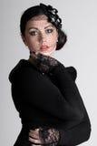 Beautiful Teenage Girl in Veil Royalty Free Stock Photos
