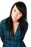 Beautiful teenage girl on white Royalty Free Stock Photos