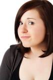 Beautiful teenage girl on white Royalty Free Stock Image