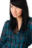 Beautiful teenage girl on white Royalty Free Stock Photography