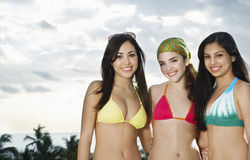 Beautiful Teenage Girls In Bikinis Royalty Free Stock Photography