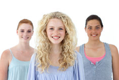 Beautiful teenage girls smiling Stock Photos