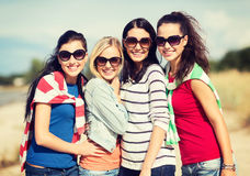 Beautiful teenage girls or young women having fun Royalty Free Stock Image