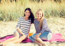 Beautiful teenage girls or young women having fun Royalty Free Stock Photography