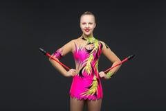 Beautiful teenage gymnast girl Stock Images