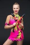 Beautiful teenage gymnast girl Stock Image