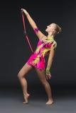 Beautiful teenage gymnast girl Royalty Free Stock Photos