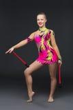 Beautiful teenage gymnast girl Stock Photos