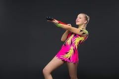 Beautiful teenage gymnast girl Stock Photo