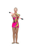 Beautiful teenage gymnast girl Royalty Free Stock Images