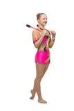 Beautiful teenage gymnast girl Royalty Free Stock Photo