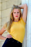 Beautiful Teenage model posing. Beautiful blonde model posing for the camera Royalty Free Stock Image
