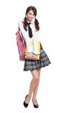 Beautiful teenage schoolgirl Royalty Free Stock Photos