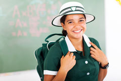 Beautiful teenage schoolgirl Stock Photo