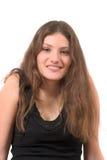 Beautiful teenager in black tanktop Stock Images
