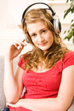 Beautiful teenager girl with blonde hair Royalty Free Stock Photo