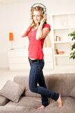 Beautiful teenager girl with blonde hair Stock Photography