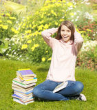 Beautiful teenager girl on the grass Stock Photography