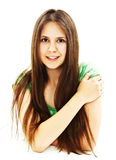 Beautiful teenager girl with long hair Royalty Free Stock Images